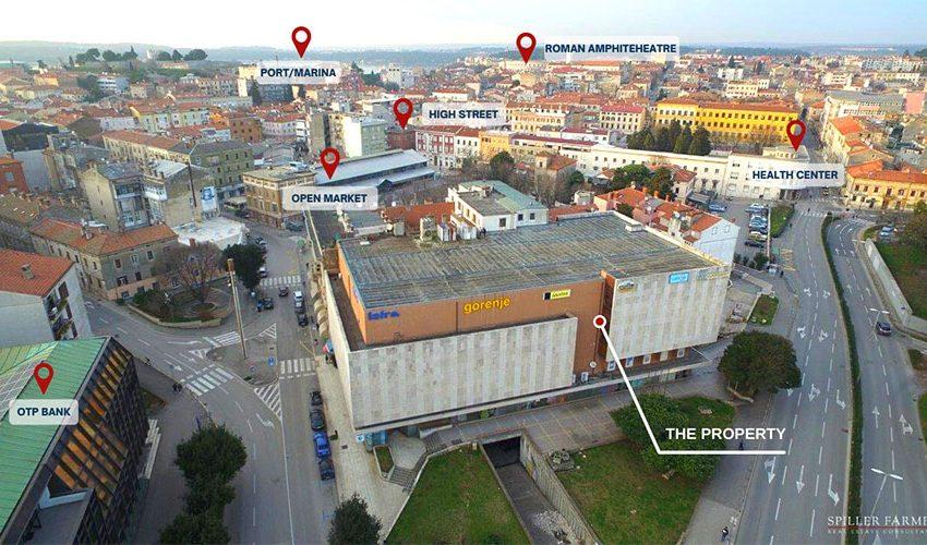 PULA Investicijska prilika nalazi se u samom centru Pule. Objekt je multifunkcionalan te je jedinstven obzirom na svoju lokaciju